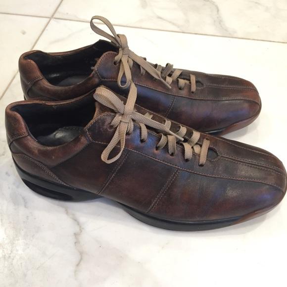 clear-cut texture modern design shop Cole Haan Nike Air men brown leather sport shoes